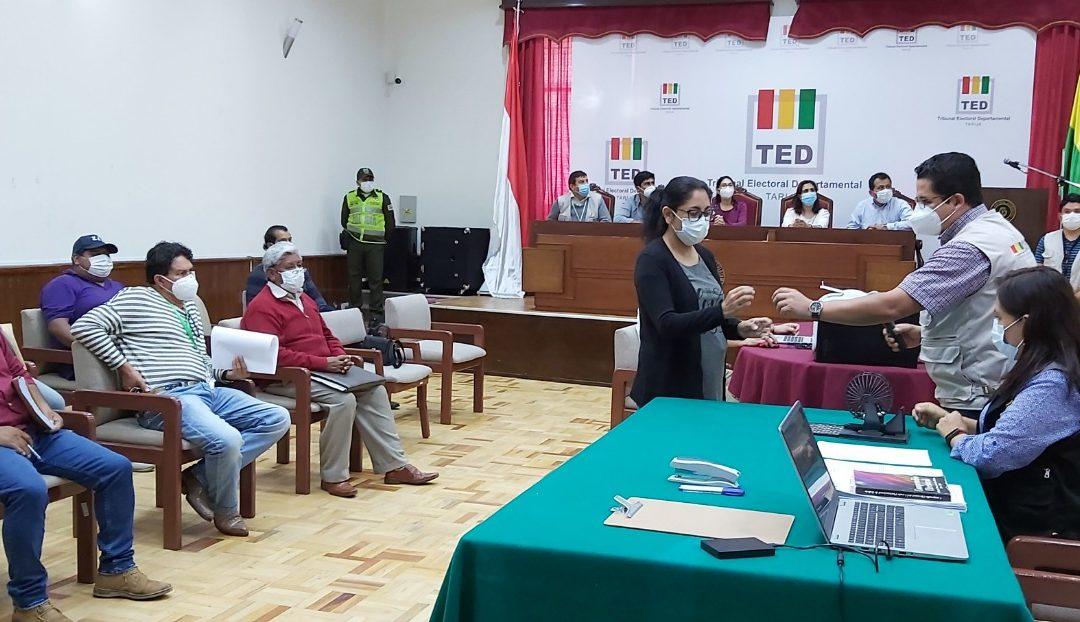 TARIJA: CONOZCA CÓMO QUEDARON DISTRIBUIDAS LAS CANDIDATURAS EN LAS PAPELETAS DE SUFRAGIO
