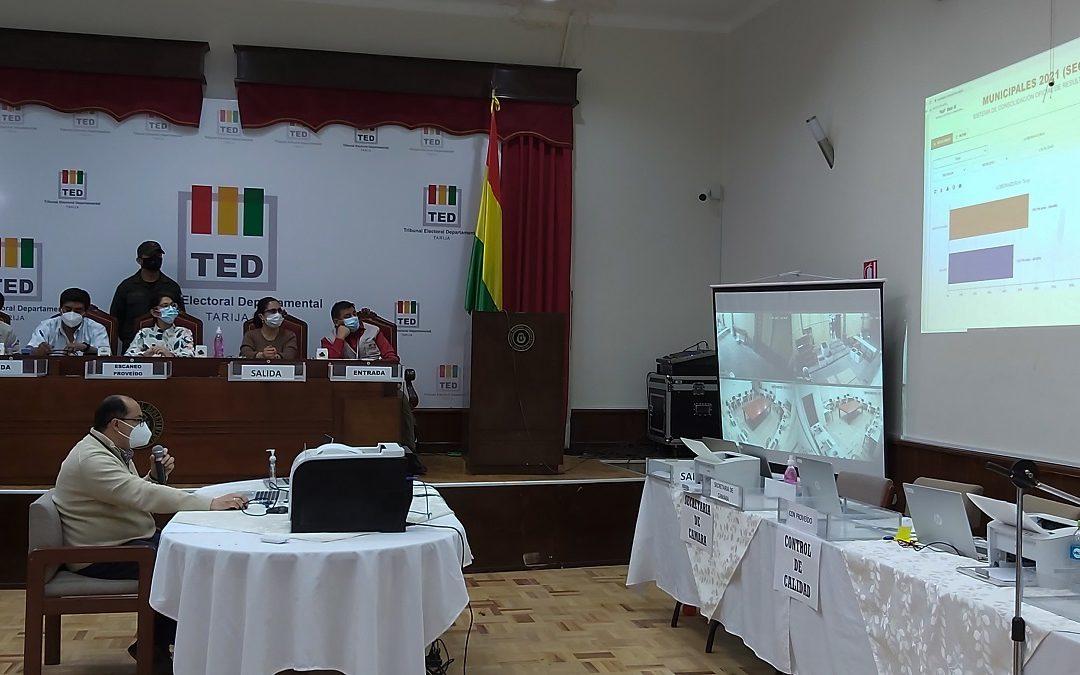 EL TED TARIJA PRESENTA LOS RESULTADOS OFICIALES DE LA ELECCIÓN DEL GOBERNADOR DEPARTAMENTAL